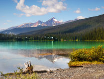 Emerald Lake in British Columbia. Scenic Emerald Lake in Yoho National Park, British Columbia, Canada Stock Photography