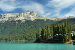 Emerald_lake_cabins Stock Images