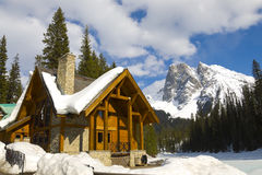 Emerald Lake, Canadian Rockies stock photo