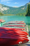 Emerald_lake_dock Photo libre de droits