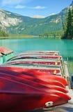 Emerald_lake_dock Royalty-vrije Stock Foto
