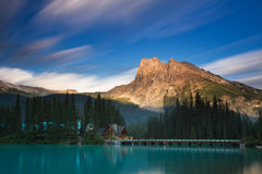 Emerald Lake in the evening light Royalty Free Stock Image