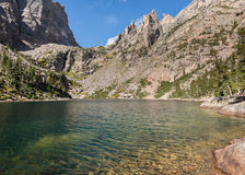 Emerald Lake, gorge de Tyndall, Rocky Mountain National Park, Co Photographie stock libre de droits