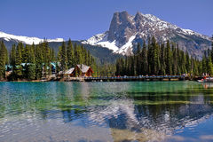 Emerald Lake In Yoho National Park In British Columbia Royalty Free Stock Image