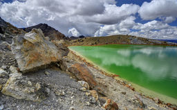 Emerald lake landscape, Tongariro National Park Royalty Free Stock Images