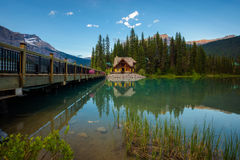 Emerald Lake Lodge en Yoho National Park, Canadá imagen de archivo libre de regalías