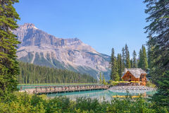 Emerald Lake Lodge - Yoho National Park - BC - il Canada fotografia stock libera da diritti