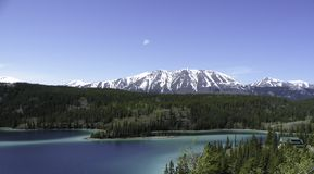 Emerald Lake with Mountain Stock Images