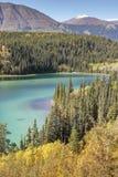 Emerald lake near Cracross. stock photography