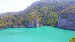 Emerald Lake oder Talay NaI in Koh Mae Koh Island stockfotografie
