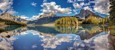 Emerald lake Panorama Royalty Free Stock Images