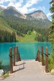 Emerald Lake Pier Stock Afbeeldingen