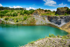 The emerald lake of Racos Stock Photography