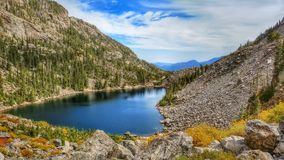 Emerald Lake in Rocky Mountain National Park royalty free stock photo