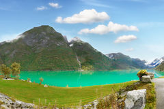 Emerald Lake, Summer Landscape Royalty Free Stock Images