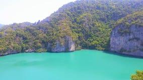 Emerald Lake or Talay Nai in Koh Mae Koh Island. stock photography