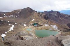 Emerald lake, Tongariro National Park Stock Photos