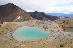 Emerald lake, Tongariro National Park Stock Photography
