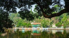 Emerald Lake umgab durch Bäume, Yercaud Lizenzfreie Stockbilder