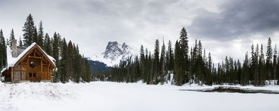 Emerald Lake in winter Royalty Free Stock Images