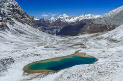 Emerald Lake at Yading Nature Reserve Stock Image