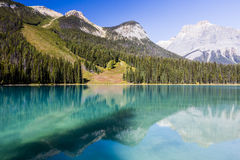 Emerald Lake, Yoho National Park, British Columbia, Canada. Emerald Lake is located in Yoho National Park, British Columbia, Canada. It is the largest of Yoho's Royalty Free Stock Photography