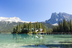 Emerald Lake, Yoho National Park, British Columbia, Canada. Emerald Lake is located in Yoho National Park, British Columbia, Canada. It is the largest of Yoho&# Royalty Free Stock Photo