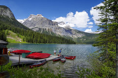 Emerald Lake in Yoho National Park Royalty Free Stock Photography