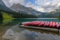 Emerald Lake in Yoho National Park, British Columbia, Canada Royalty Free Stock Photo