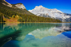 Emerald Lake Yoho National Park, British Columbia, Kanada Royaltyfria Foton