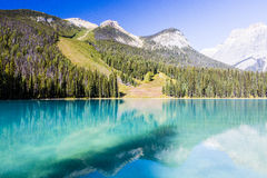 Emerald Lake Yoho National Park, British Columbia, Kanada Royaltyfri Fotografi