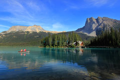 Emerald Lake, Yoho National Park, Brits Colombia, Canada Stock Afbeelding