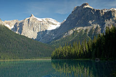 Emerald lake in Yoho national Park Canada Stock Image