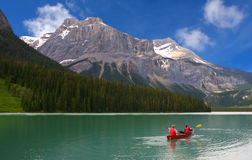 Emerald lake, Yoho National park, Canada royalty free stock images