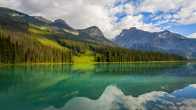 Emerald Lake in Yoho National Park Stock Photography