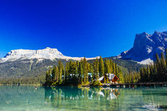 Emerald Lake, Yoho National Park, Colombie-Britannique, Canada Image libre de droits