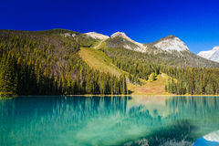 Emerald Lake, Yoho National Park, Colombie-Britannique, Canada Images libres de droits