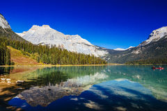 Emerald Lake, Yoho National Park, Colombie-Britannique, Canada Photographie stock libre de droits