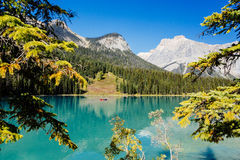 Emerald Lake, Yoho National Park, Colombie-Britannique, Canada Photos libres de droits