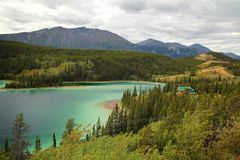 Emerald Lake, Yukon royalty free stock image