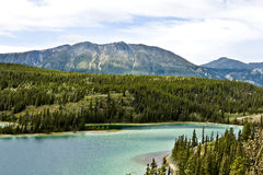 The Emerald Lake In Yukon in Canada Royalty Free Stock Photo