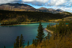 Emerald Lake, Yukon Territories, Canada Royalty Free Stock Images