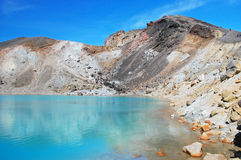 Emerald lakes Royalty Free Stock Photography