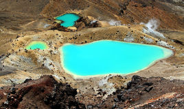 Emerald Lakes Arkivbild