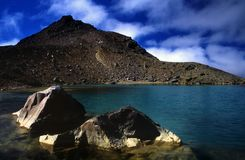 Emerald Lakes. Along New Zealand's famous Tongariro Crossing treck Stock Photo