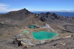 Emerald Lakes, circuito septentrional de Tongariro, travesía alpina Imagen de archivo libre de regalías