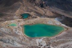 Emerald Lakes Cruzamento de Tongariro Fotos de Stock