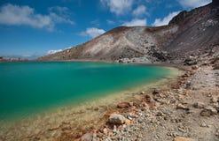 Emerald Lakes Cruzamento de Tongariro Foto de Stock Royalty Free