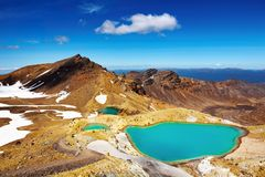 Emerald Lakes, New Zealand Stock Photos