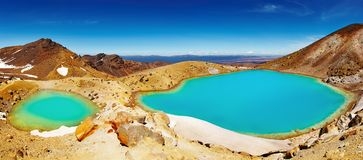 Emerald Lakes, New Zealand Stock Photo